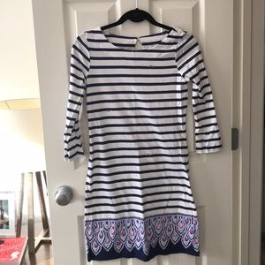 Lilly Pulitzer White and Navy Striped Dress